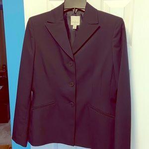 NWT - ANNE KLEIN Navy Suit Jacket Blazer - SIZE 4P